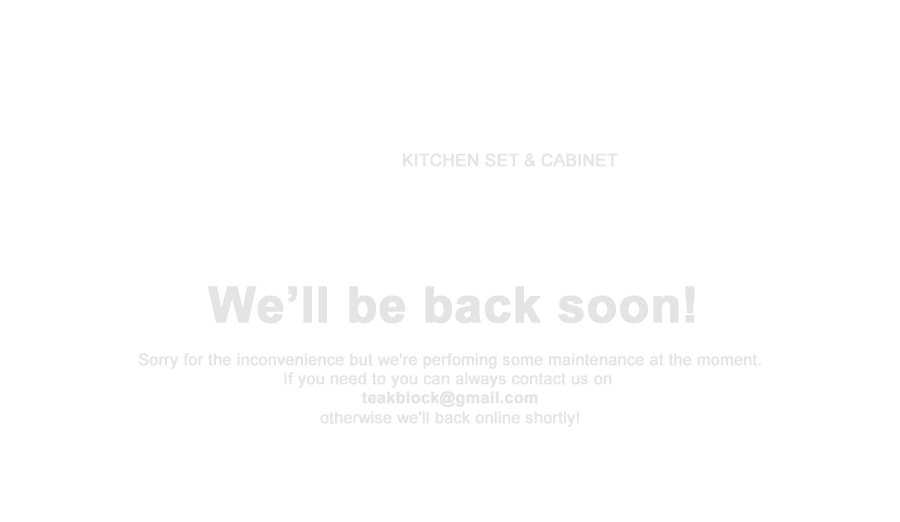 Maintenance Teakblock