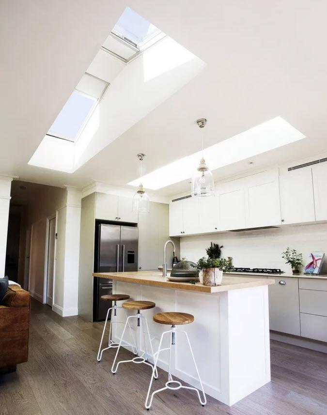 Atap transparan di ruang dapur